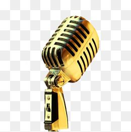 Fig Golden Microphone Microphone Clipart Microphone Png Transparent Clipart Image And Psd File For Free Download Fig Microphone Green Screen Backgrounds