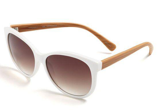 White: Halogen Retro Sunglasses ($58)
