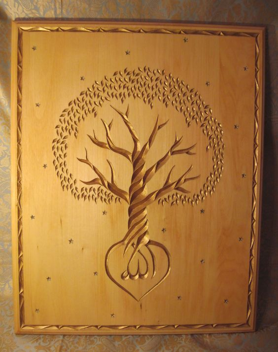 Tree designs gun cabinet plans and carving on pinterest
