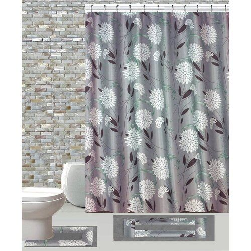 Gould Flowers Burt And Leaf Single Shower Curtain Shower Curtain