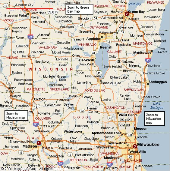 Wisconsin Maps And City Maps On Pinterest