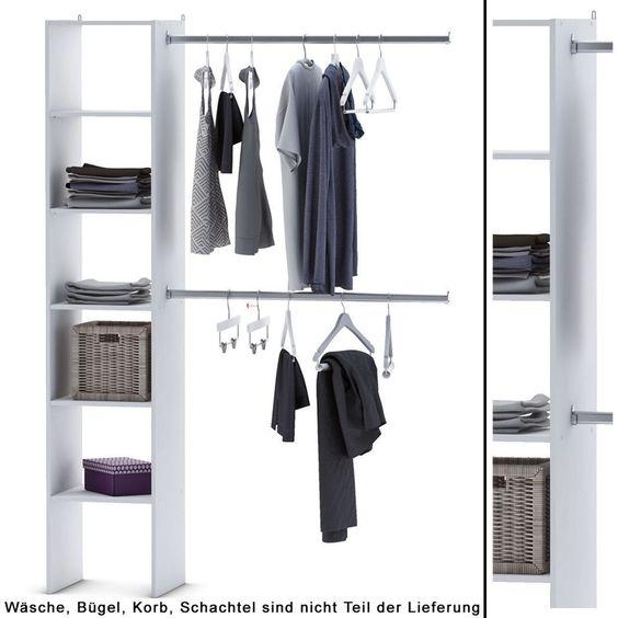 Details zu KLEIDERSCHRANK 6735 offen BEGEHBAR Regal Kleiderständer ...