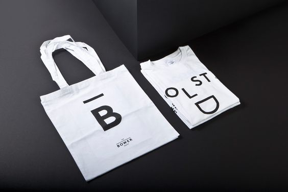 Tote and T-shirt design for The Bower designed Campbell Hay.