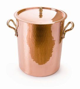 Mauviel M'tradition 2157.24 13.7-Quart Soup Pot and Lid with Bronze Handle by Mauviel. $706.00. Tinning by traditional process and not by electrolytic deposit. Handles are fixed by sturdy copper rivets. Hammered and polished outside. Copper tin inside. In 1830 in a Normandy village called Villedieu-les-Poles, which is located near the Mont-Saint-Michel, Mr. Ernest Mauviel established the Mauviel manufacturing company. Villedieu-les-Poles, the city of copper, has a 800-...