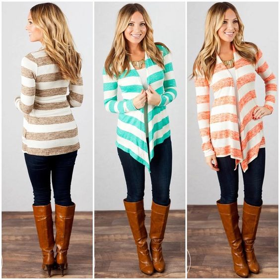 """Womens Boutique / Daily Deals on Instagram: """"Oh, you don't have a striped cardigan? We are here to change that!  Snag this must have at midnight MST on Jane.com"""""""