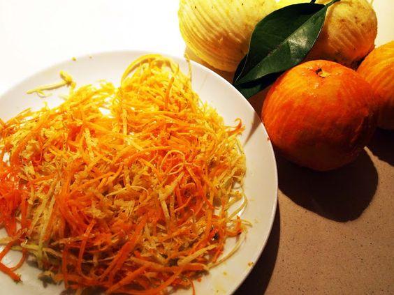preparing orange and lemon jam