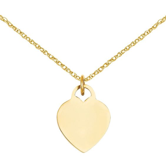 Versil 14k Gold Heart Disc Charm