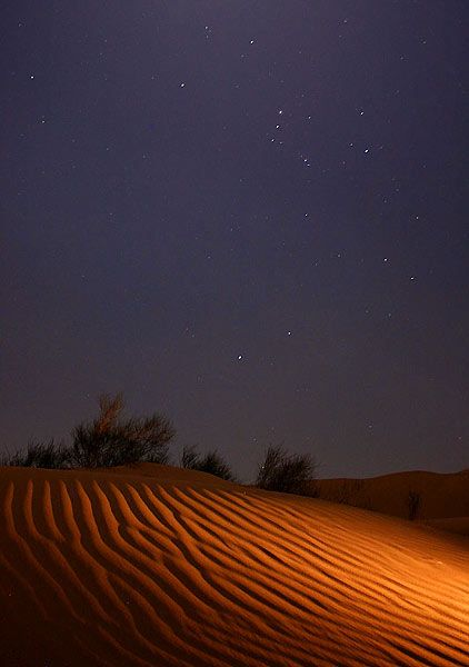 Desert Night Sky | moonlite night in Maranjab sand desert ...
