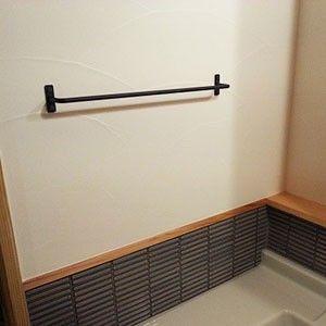タオルハンガー アイアン タオルかけ 洗面所 キッチン 黒 日本製
