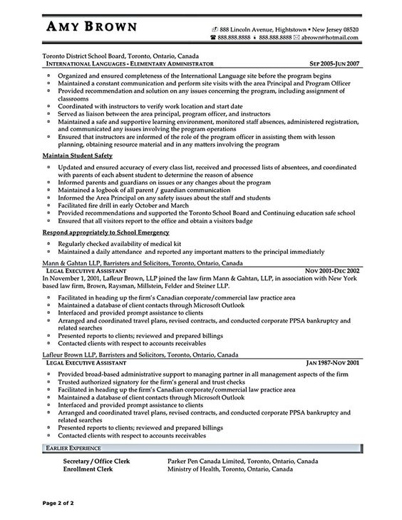 Executive assistant resume is made for those professional who are - registration clerk sample resume