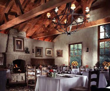 This is that picture of the San Ysidro Ranch I was trying to pin a couple weeks go. Not the right location, but a cool-looking room.