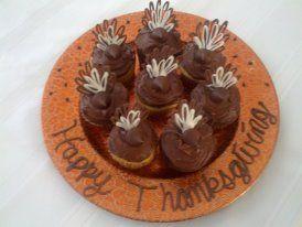 Hershey kiss turkey cupcakes