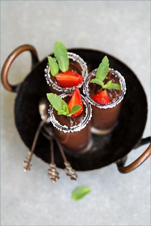 Creme au chocolat shots {passionateaboutbaking.com}