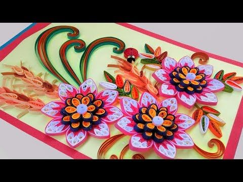 Quill Paper How To Make Beautiful Quilling Flowers Birthday