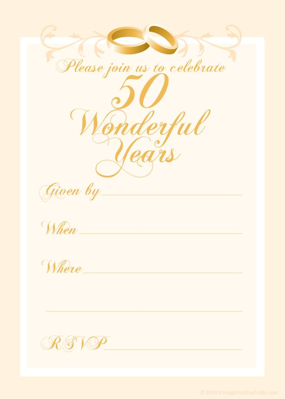 free 50th wedding anniversary invitations templates 50th wedding anniversary invitations. Black Bedroom Furniture Sets. Home Design Ideas
