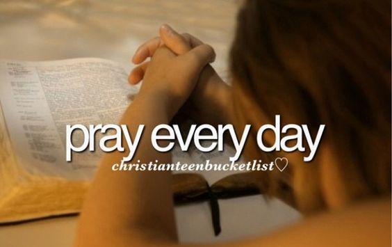 Christian Bucketlist - pray: