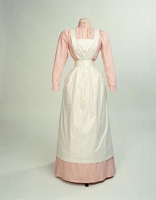 1890-1910 uniform (dress & blouse & skirt) of a cook in the Earl of Lichfield's household at Shugbrough