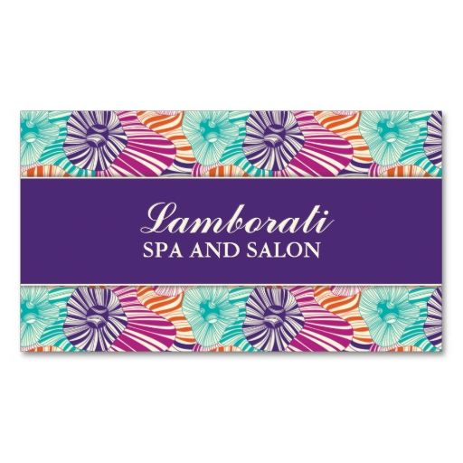 Floral Pattern Elegant Hairdresser Salon Groupon Business Card. Make your own business card with this great design. All you need is to add your info to this template. Click the image to try it out!