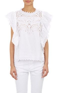 Salvia Embroidered Top