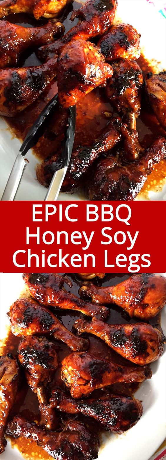 Put the chicken legs in the baking dish in a single layer Easy Honey Soy BBQ Baked Chicken Legs Recipe