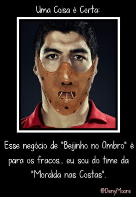 Deny Moore Beijinho no ombro  Mordida nas costas - Luis Soarez Copa do Mundo - Brasil 2014