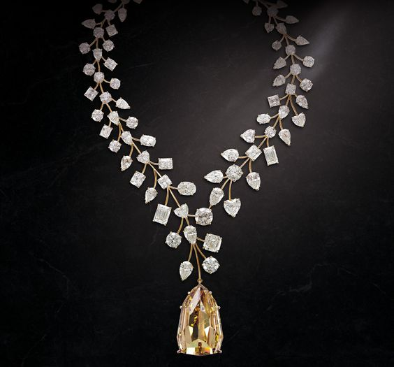 Mouawad's world-record-breaking L'Incomparable necklace, set with 637ct diamonds, including 90 exceptional white diamonds and the world's la...
