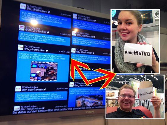 Kommt zu uns auf die Oberfranken Ausstellung nach Hof und holt Euch den #melfieTVO-Flyer. Mit diesem Flyer macht Ihr dann ein Messe-Selfie (Melfie) und schickt es uns via Mail, Twitter oder Facebook. Dann erscheint Ihr auf der großen Twitter-Wall an unserem Stand 117 in Halle 1!