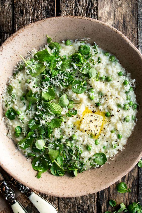 Spring Pea Risotto - The Original Dish