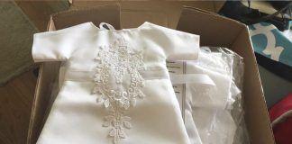 Mira cómo esta novia transforma por completo su vestido de novia para dárselo a los más pequeños