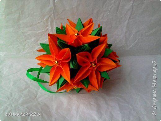 Кусудама Оригами Крокусы Бумага фото 4
