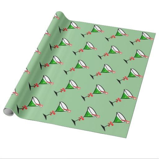 Christmas Martini Gift Wrapping Paper