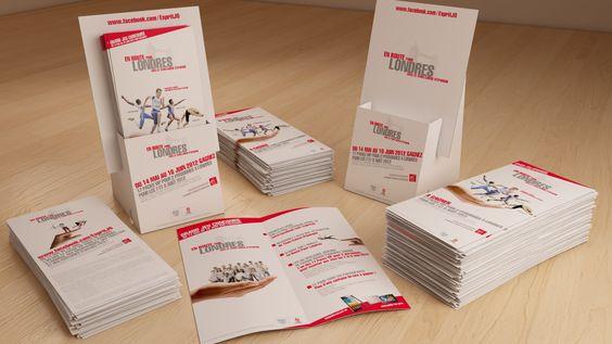 Porte-leaflet et leaflet à destination des 4 200 agences du groupe Caisse d'Epargne.