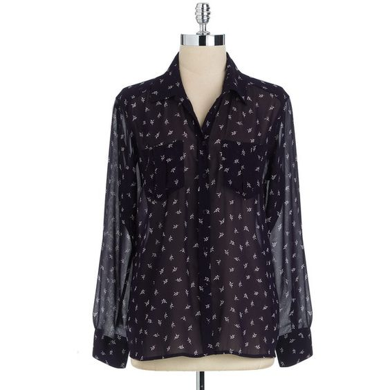 Guess Origami Print Blouse ($47) ❤ liked on Polyvore