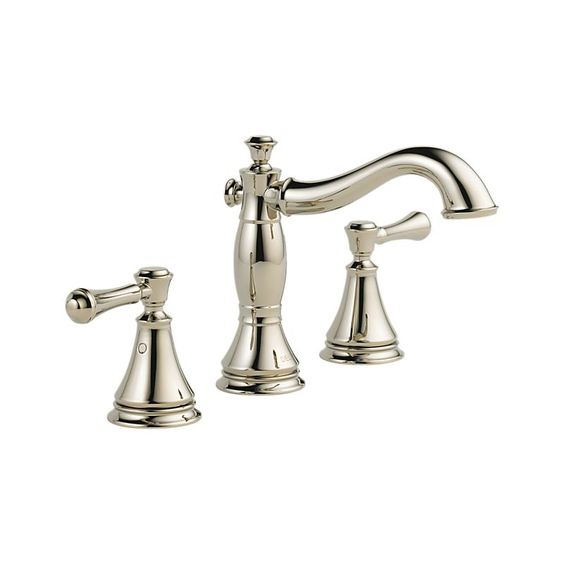 3597LF-PNMPU Cassidy™ Two Handle Widespread Lavatory - Metal Pop-Up : Bath Products : Delta Faucet