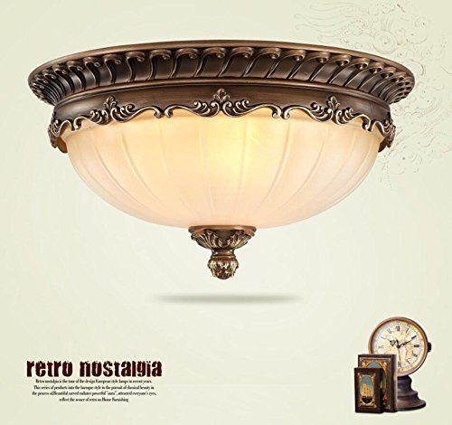 KJLARS Rustikale rund Deckenlampe Wohnzimmer Deckenleucht   - wohnzimmer deckenlampen rustikal