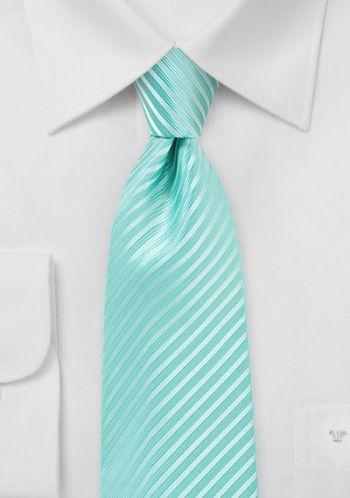 Krawatte Streifenstruktur mint
