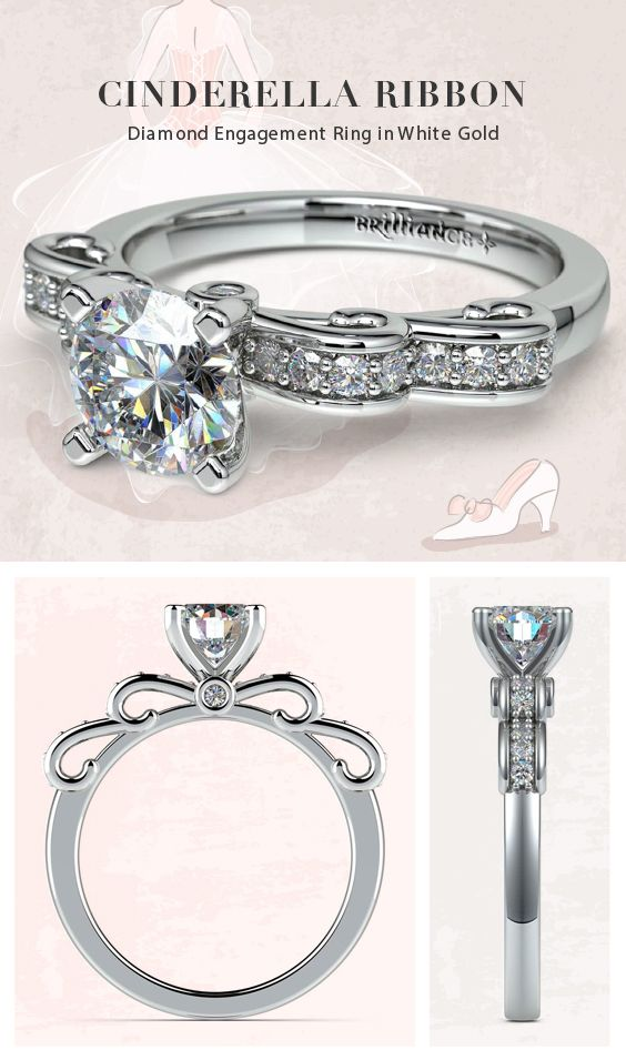 Round Cut Diamond Cinderella And Engagement Rings On Pinterest