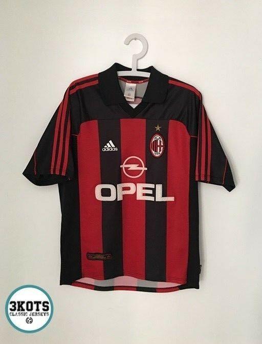 AC MILAN 200002 Home Football Shirt (M) Soccer Jersey