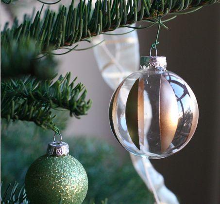 DIY retro striped glass ornament
