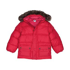 red down coat, $158