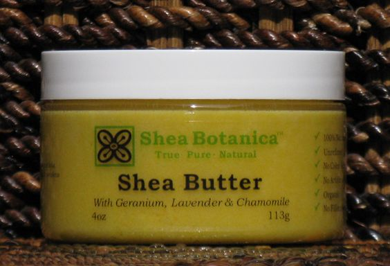 Shea Butter 4oz - with Geranium Lavender & Chamomile, Shea Botanica