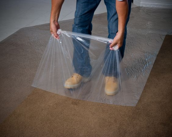 carpet protection plastic when painting covering the sticky self adhesive for