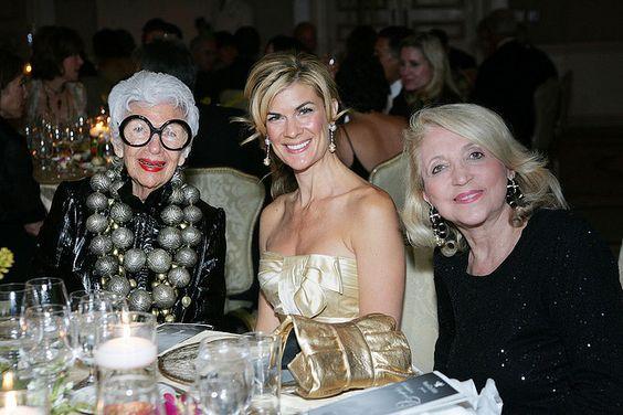 Iris Apfel, Mia Matthews, and Patty Myusa, via Flickr.