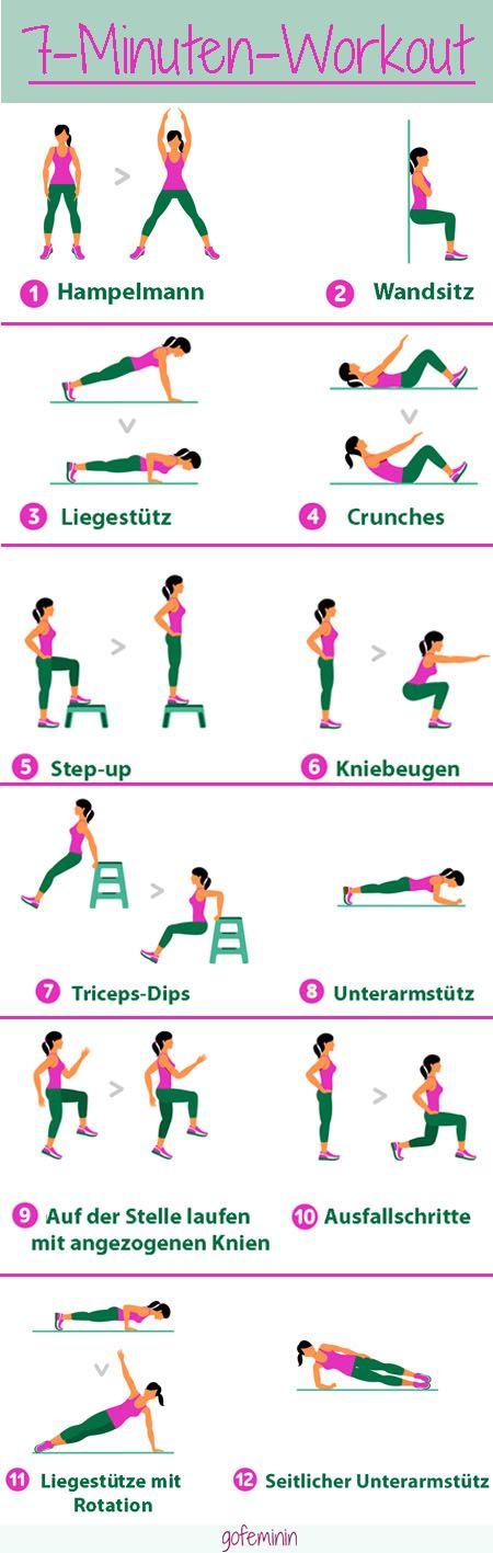Ein effektives Workout muss nicht lange dauern - wir zeigen euch das 7-Minuten-Workout!