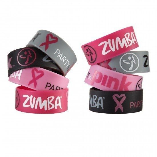 Zumba PARTY IN PINK™ Rubber Bracelets 8 pack~ NEW Breast Cancer Campaign #ZumbaFitness