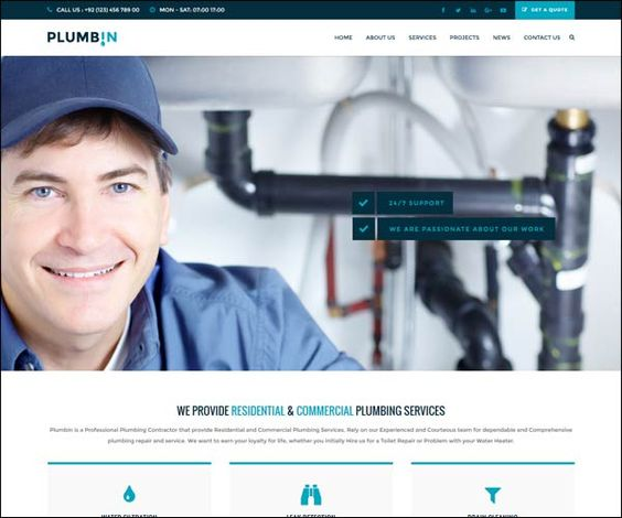 Plumbin #Plumbing Handy #Business #WordPress Theme : https://webdesignshare.com/2016/plumbin-plumbing-handy-business-wordpress-theme/