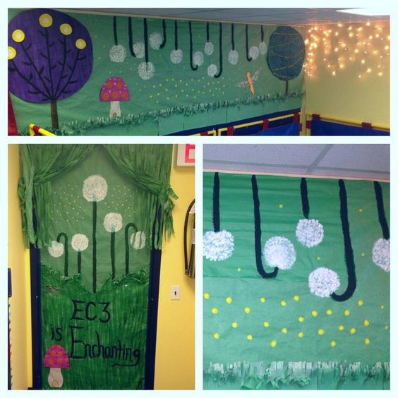 Classroom Decoration Forest : Enchanted forest classroom decor doors