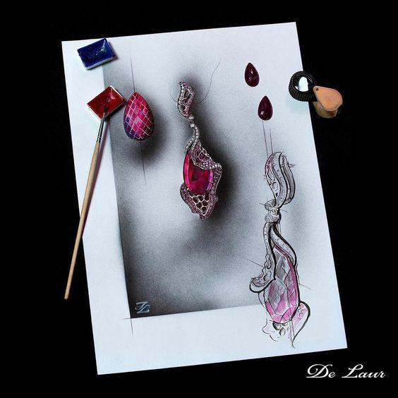 #Delaur #sketch #Earrings #FromStartToEnd #LuxuryJewelry #UniqueJewels #HighJewelry #FantasyCollection Model: S 117