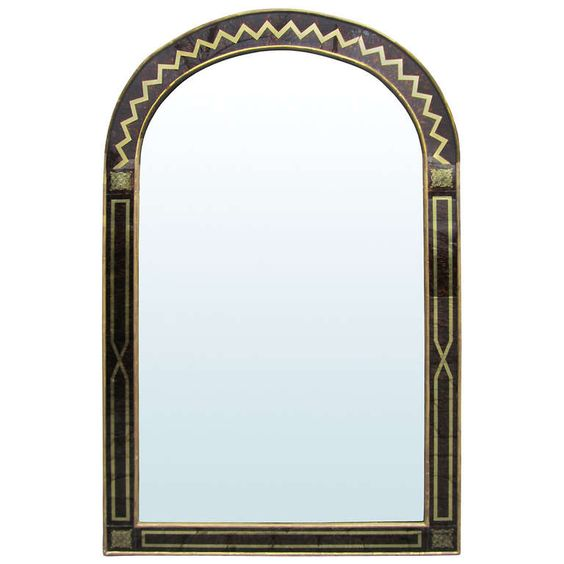 Early 20th Century Eglomise Mirror | From a unique collection of antique and modern wall mirrors at https://www.1stdibs.com/furniture/mirrors/wall-mirrors/