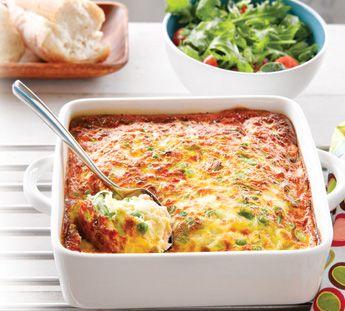 oven dishes beans hams golden brown omelet shallow egg whites ...